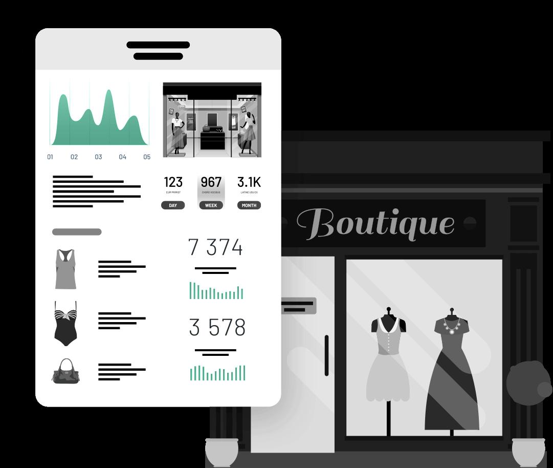 Visuel solution store identity fashion data